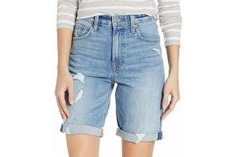 Lucky Brand Women's Jean Shorts Blue Size 27 Denim High-Rise Distressed