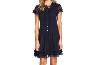 CeCe Women's Dress Midnight Blue Size XL Sheath Ruffled Drop Waist