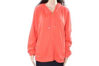 Lauren by Ralph Lauren Women's Sweatshirt Red Size XL Full Zip Hoodie