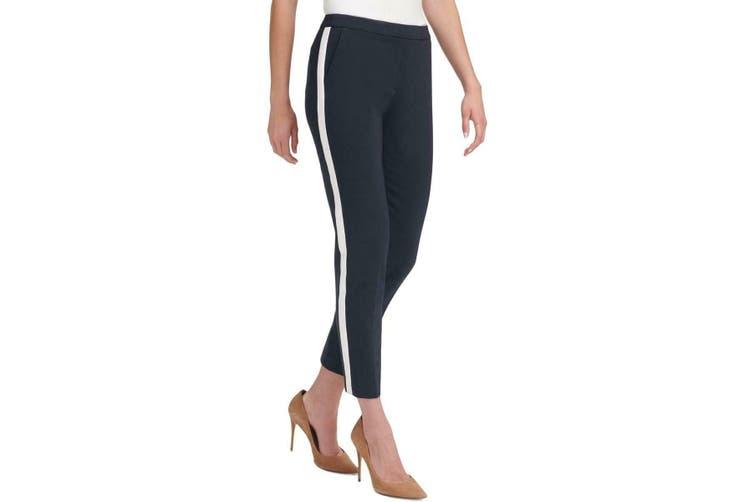 Tommy Hilfiger Women's Blue Size 4X29 Tuxedo Striped Varsity Pants