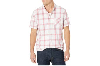 Levi's Mens Shirt White Red Size XL Nep Plaid Pattern Button Down