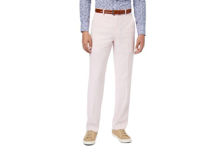 Sean John Mens Dress Pants Light Pink Size 36X30 Flat Front Stretch