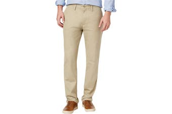 Club Room Mens Pants Beige Size 38X32 Khakis Flat Front Chinos Stretch