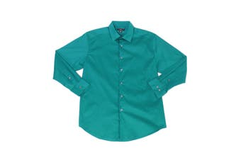 Alfani Mens Dress Shirt Genuine Jade Green Size XL 17-17 1/2 Slim Fit