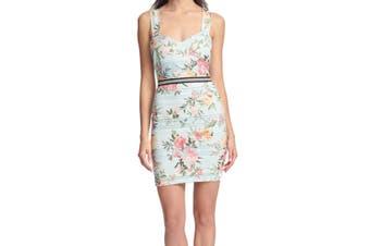 Guess Women's Dress Powder Blue Size 16 Sheath Floral Print Lace