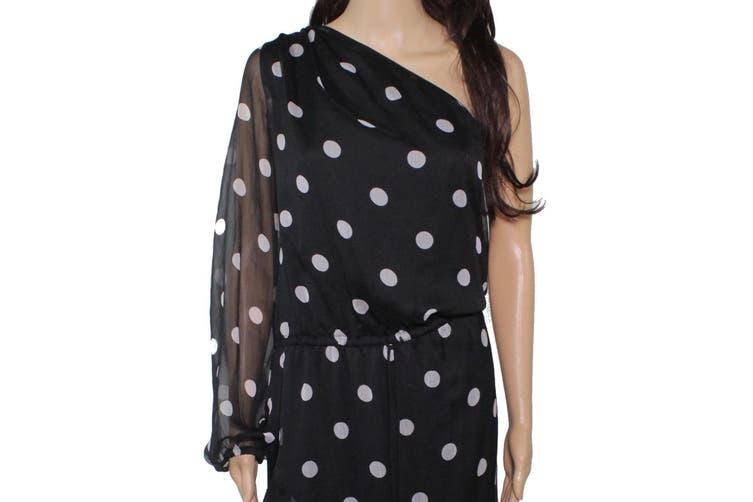 Lauren By Ralph Lauren Women's Dress Black Size 14 Shift Polka Dot