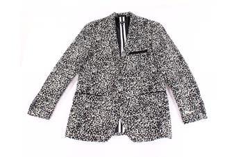 INC Men's Blazer Combo Black White Size 2XL Slim Fit Two Button