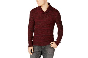 American Rag Mens Sweater Dark Scarlet Red Size Large L Shawl Collar
