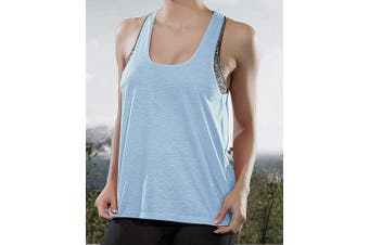 Designer Brand Women's Activewear Top Heather Blue Size Large L Tank