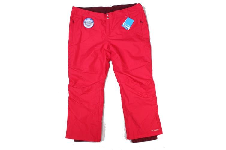 Columbia Women's Red Size 3X Plus Snow Wear Bugaboo II Pants Stretch