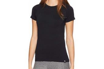 HPE Women's Top Black Size Small S Activewear Cross X Seamless Tee
