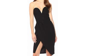 Amanda Uprichard Women's Dress Black Size Small S Strapless Cherri