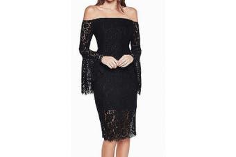 Bardot Women's Dress Black Size XS Sheath Off Shoulder Lace Detail