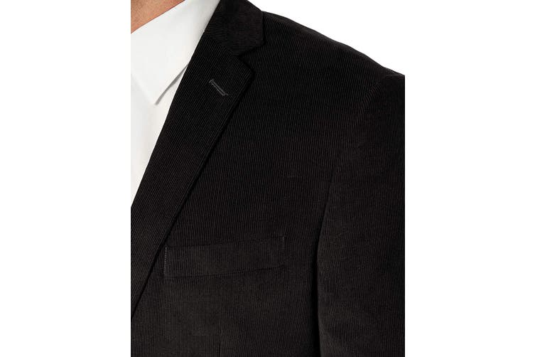Unlisted by Kenneth Cole Mens Sport Coat Black Size 44 Corduroy