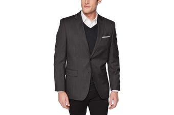 J.M. Haggar Mens Blazer Gray Size 44 Two-Button Classic Fit Stretch