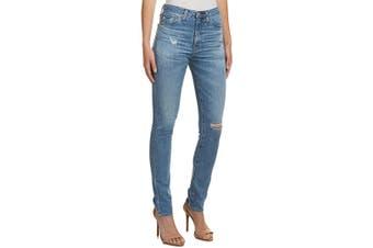 Akademiks Women's Jeans Blue Size 25X28 Ripped Skinny Fit Stretch
