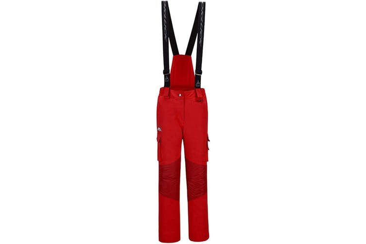 Okluck Women's Red Size 2XL Plus Overalls Insulated Ski Overall Pants