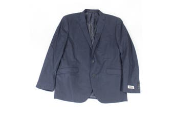 Unlisted by Kenneth Cole Mens Blazer Blue Size 44 Plaid Two-Button