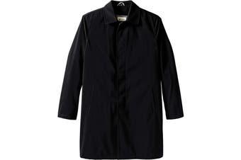 Haggar Mens Black LT Big & Tall Kildare Classic Fit Zip Out Liner Coat