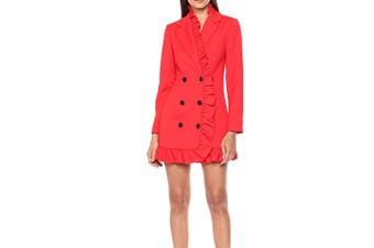 C/Meo Collective Women's Dress Red Size Small S Long Sleeve Blazer