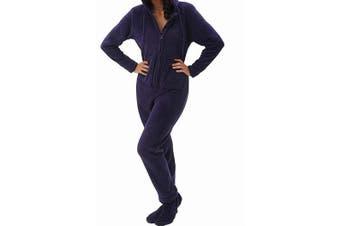 Alexander Del Rossa Women's Purple Size Medium M Fleece One Piece