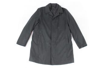 London Fog Mens Coat Black Size 44L Layered Zip Single Breasted