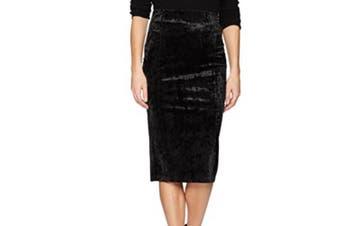 BCBG Generation Women's Skirt Black Size Large L Velvet Straight Pencil