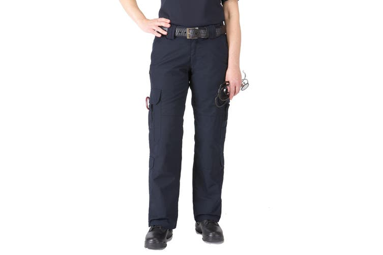 5.11 Tactical Navy Blue Women's Size 4 Cargo Solid Work EMS Pants