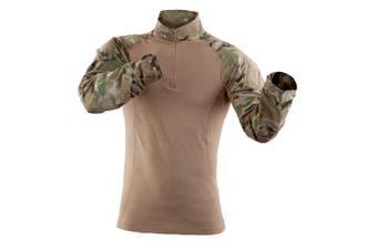 5.11 Tactical Mens Shirt Brown Size Large L Camo Print Sleeve Tee