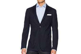 Bugatchi Mens Sport Coat Navy Blue Size 44 Two-Button Two Button