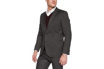 Unlisted by Kenneth Cole Mens Blazer Gray Size 36 Two-Button Notched