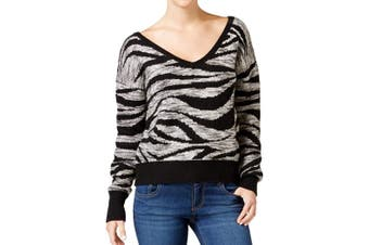 Calvin Klein Jeans Women's Sweater Black Size Large L Pullover V-Neck