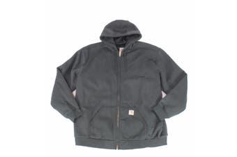 Carhartt Mens Gray Size Medium M Hooded Carbon Weather Full Zip Jacket