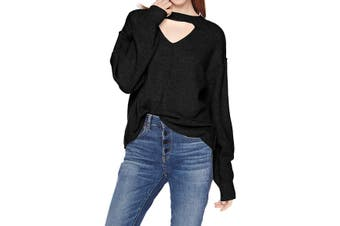 Billabong Women's Sweater Black Size Small S Without A Crew Pullover