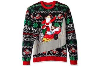 Blizzard Women's Sweater Black Size XL Crewneck Ugly Christmas Jesus