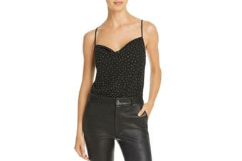 ASTR Women's Top Midnight Black Size XS Bodysuit Gem Embellished