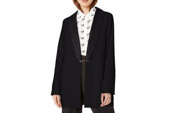 Cupcakes & Cashmere Women's Jacket Black Size Small S Crepe Shawl