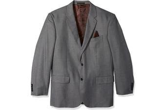Alexander Julian Mens Blazer Gray Size 58 Two-Button Notched Collar