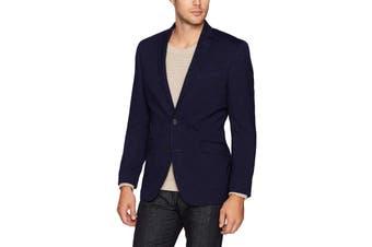 Kenneth Cole Reaction Mens Sport Coat Blue Size 42 Long Textured