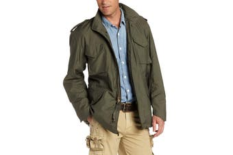 Alpha Industries Mens Jacket Green Size Medium M Full-Zip Field