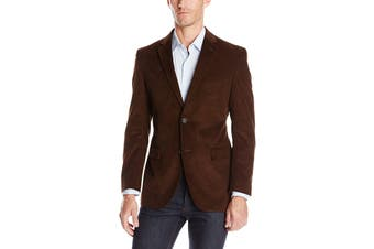 Designer Brand Mens Sport Coat Brown Taupe Size 48 Corduroy Two-Button