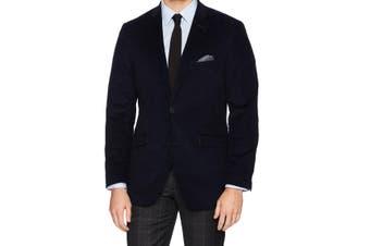 Designer Brand Black Men's Size 46 Regular Corduroy Speckled Blazer
