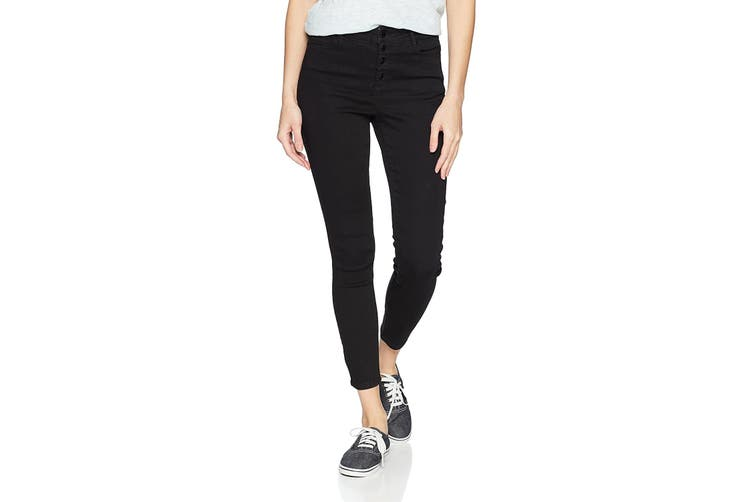 Black Daisy Black Size 7 Junior's High Rise Button Fly Jeans Stretch
