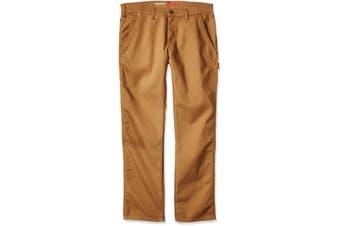 Dickies Mens Pants Brown Size 34X34 Carpenter Stretch Tough Max Duck
