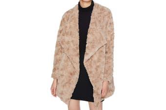 BB Dakota NEW Beige Women's Size Medium M Tucker Faux Fur Jacket