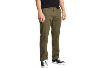 Brixton Mens Pants Olive Green 38X33 Khakis Chinos Reserve Standard
