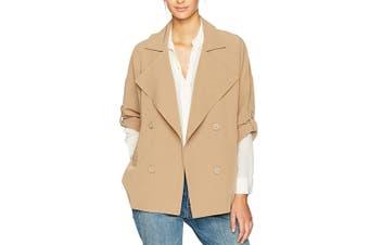 BB Dakota Women's Jacket Nude Beige Size Small S Genette Drape Front