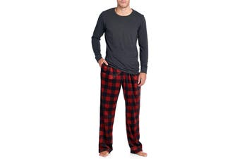 Ashford & Brooks Mens Sleepwear Gray Size Medium M Pajama Sets Plaid