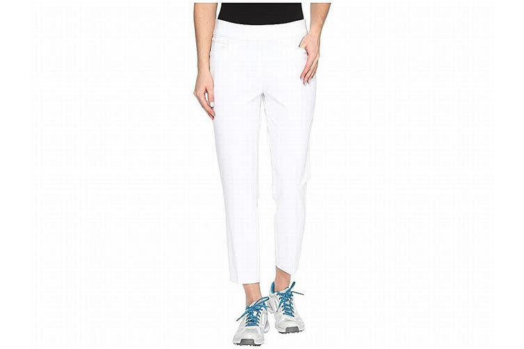 Adidas Women's Pants Bright White Size XS Capris Cropped Stretch