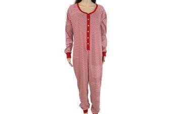 Burts Bees Baby Women's Sleepwear Red Size Large L Striped Footie